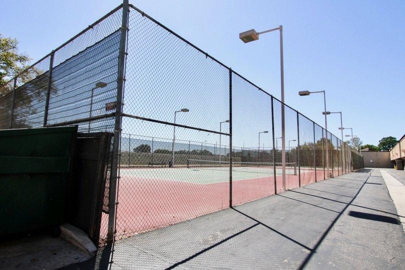 The tennis courts at El Dordao Lakes