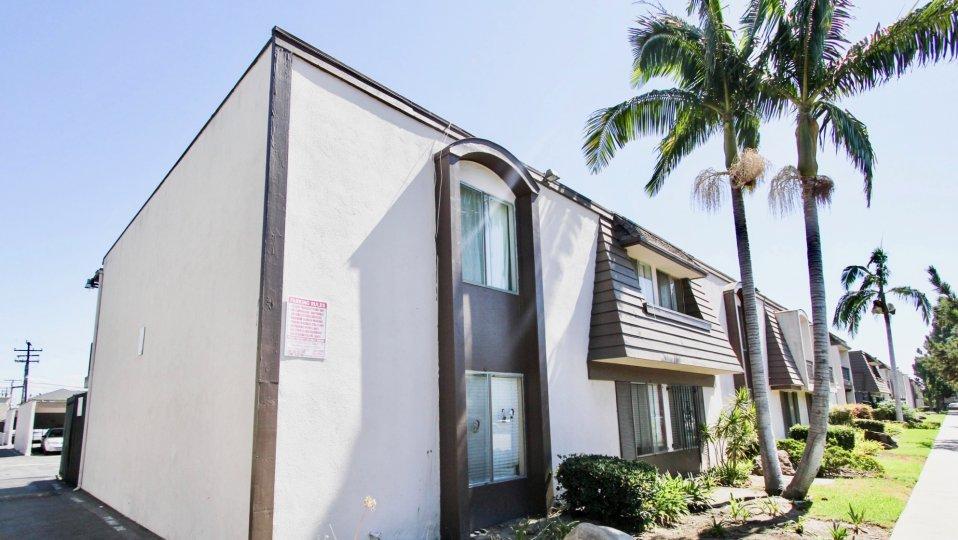 The windows in the Hampton Condominium in Long Beach, California