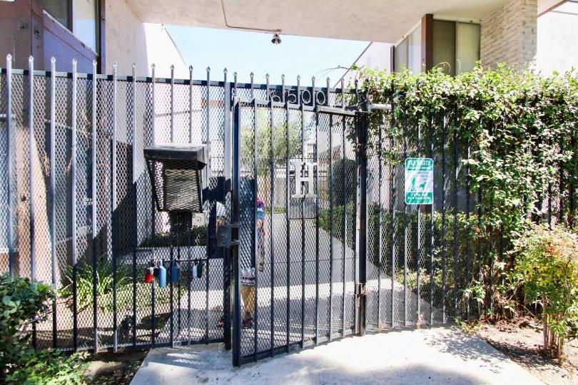 The door into the common area of Hampton Condominium