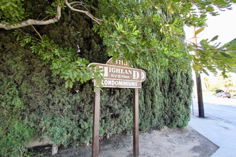 The sign for Highland Haciendas in Long Beach, California