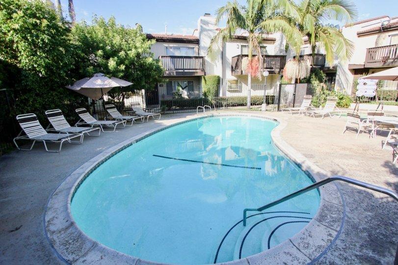 The pool at Highland Haciendas in Long Beach, California