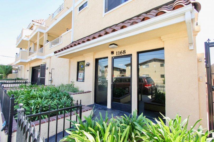 The entrance into Long Beach Court in Long Beach, California