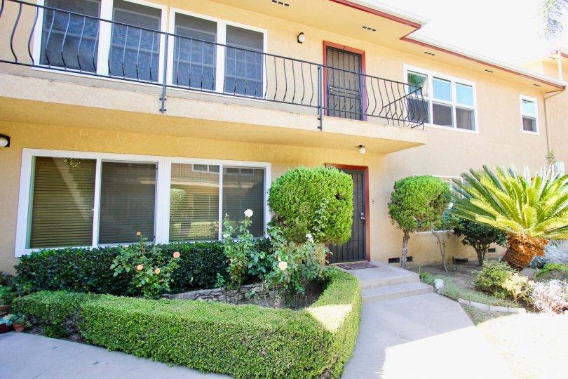 The balconies seen at Long Beach Monterey in Long Beach, California