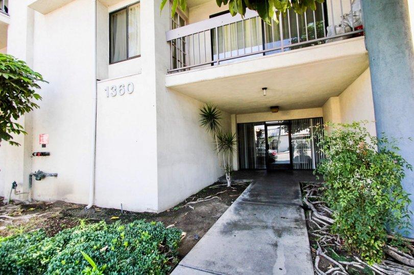 The entryway into Long Beach Redondo West in Long Beach, California