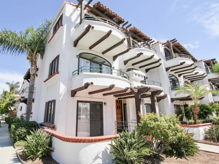 The balconies at Oceanair in Long Beach, California