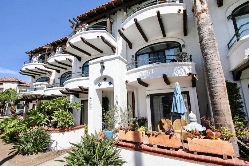 The patio at Oceanair in Long Beach, California