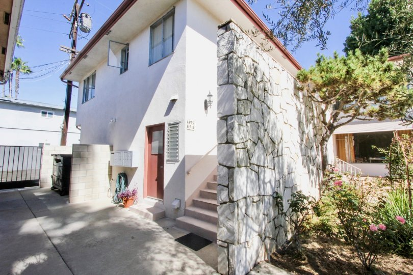 The rock wall seen at Park Estates Manor in Long Beach, California