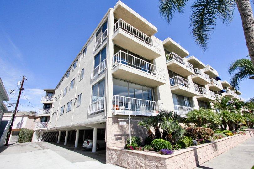 The balconies at Sea Isle Landing in Long Beach, California