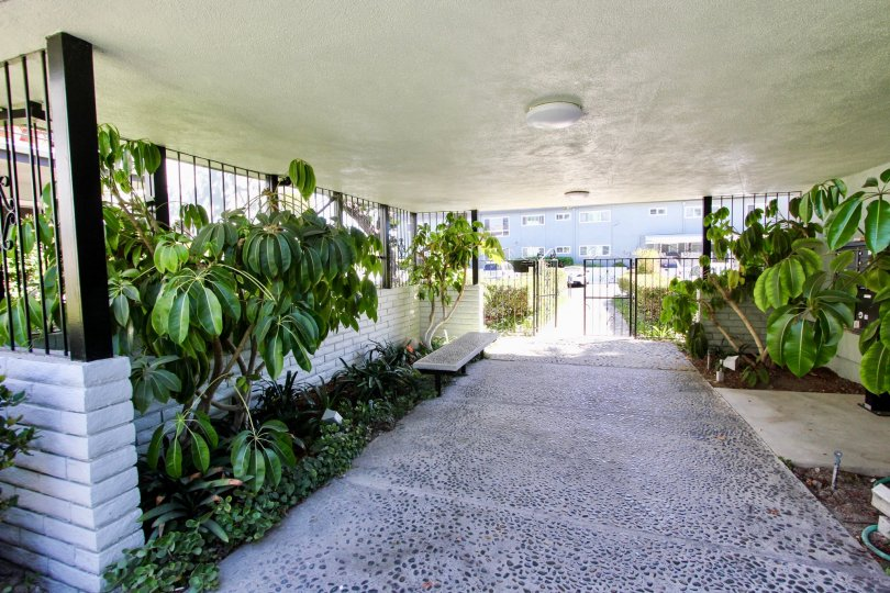 The walkway through Sovereign Park Estates