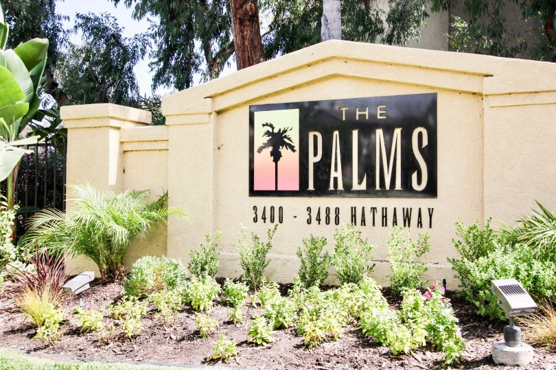 The sign announcing The Palms