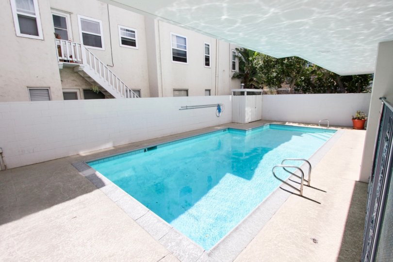 The pool for residents at View Carre