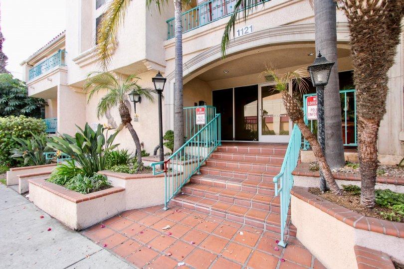 Villa Del Obispo front amazing view in Long Beach at California