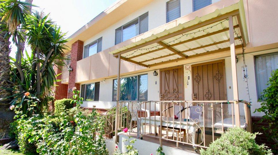 The patio at Berendo Vista