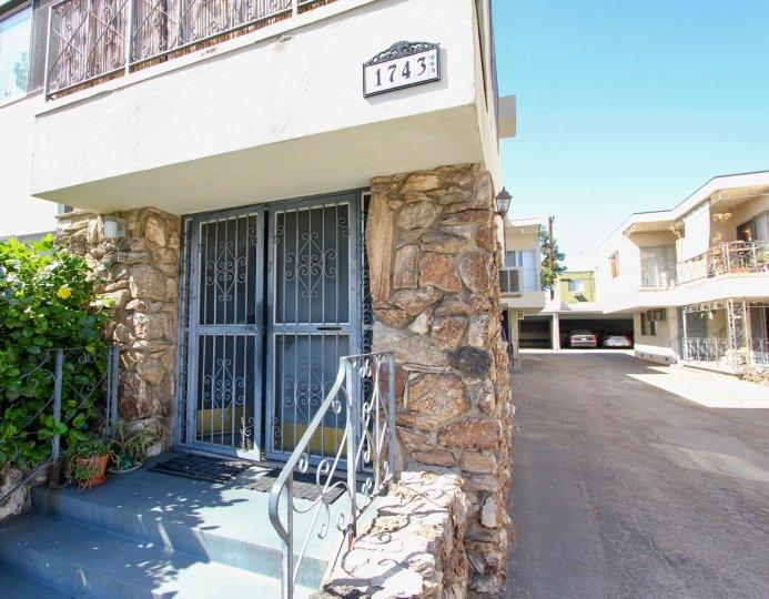 The address above the entrance at Edgemont Capri in Los Feliz, California