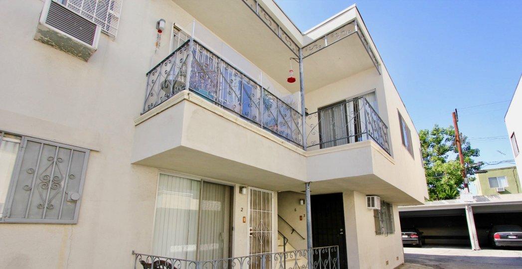 The balconies seen at Edgemont Capri