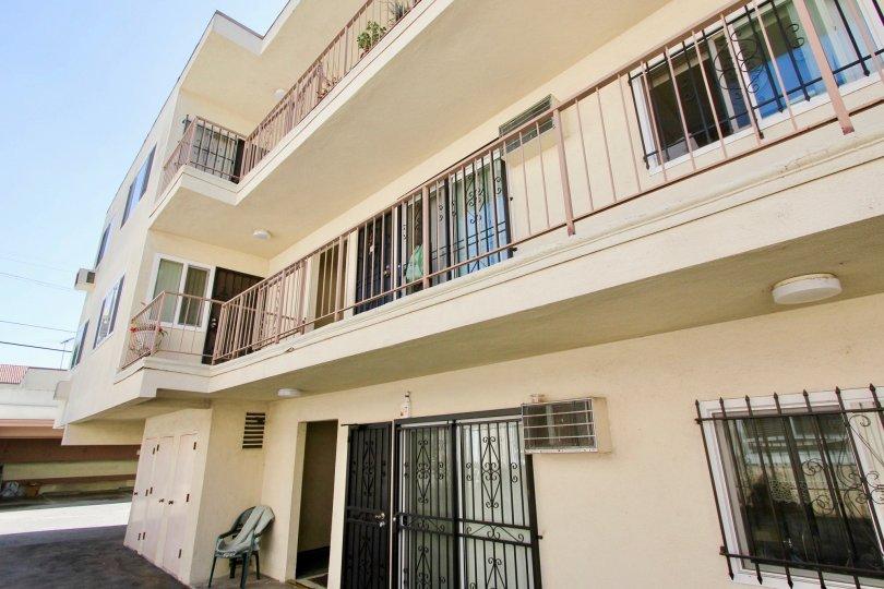 The balconies at the Kenmore Capri