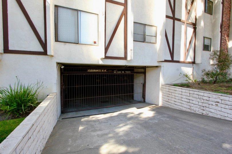 The parking at Los Feliz Condominiums