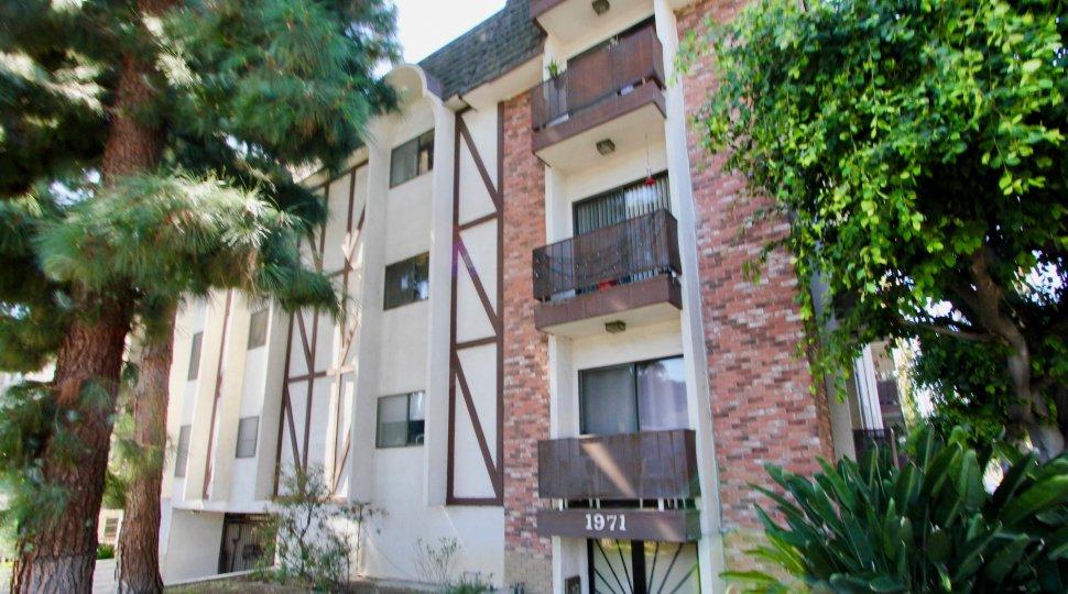 The balconies at Los Feliz Condominiums