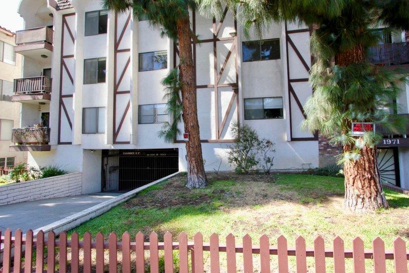 The fence around Los Feliz Condominiums