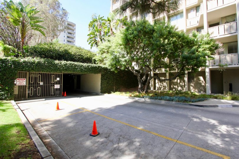 The garage for Los Feliz Towers residents in Los Feliz, California