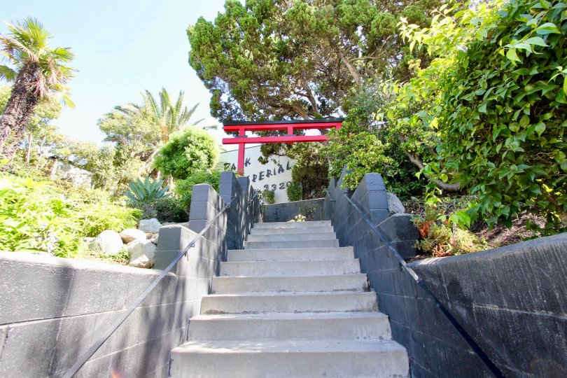 The stairs leading up to Park Imperial