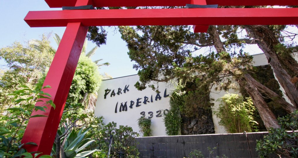 The Park Imperial name on the building in Los Feliz, California
