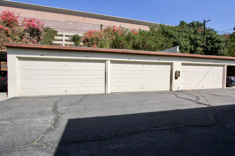 The garages at Perlita Gardens II in Los Feliz, California