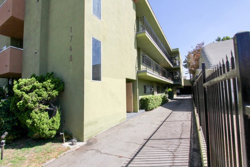 The walkway up to The Kenmore Condos