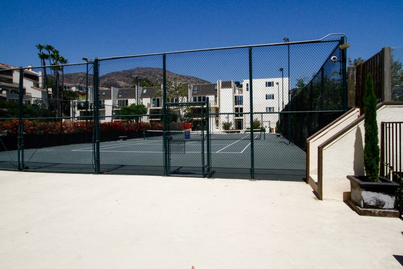 The tennis courts at Malibu Canyon Village