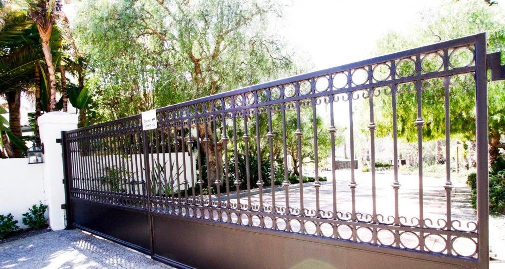 The gate at Portico at Malibu in CA California
