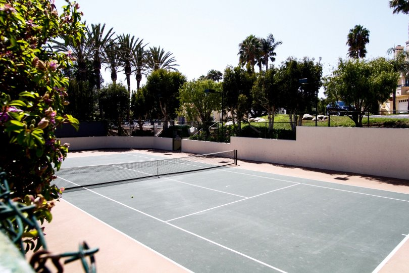 The tennis courts at The Pointe at Malibu