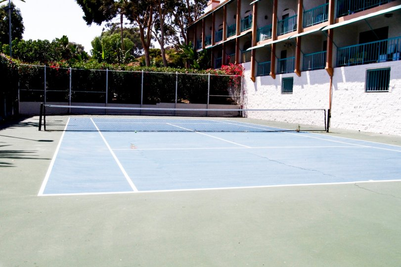 The tennis courts for residents of Tivoli Cove