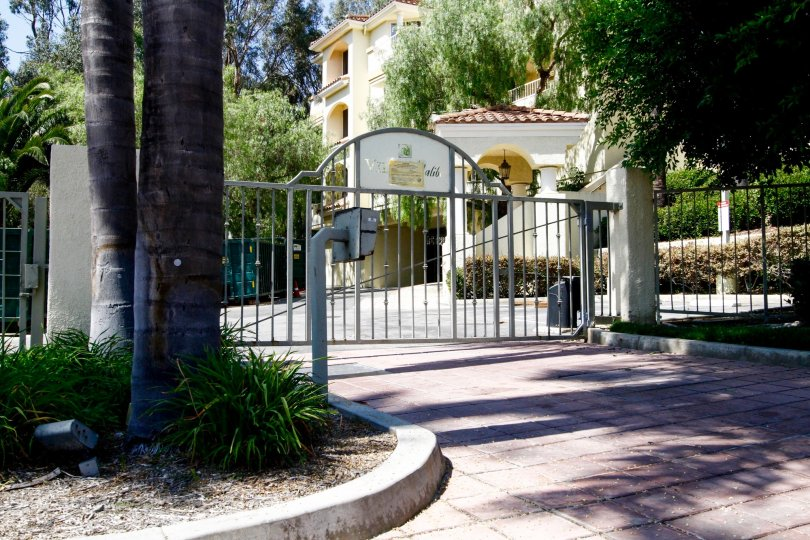 The gate into Villa Malibu in CA California
