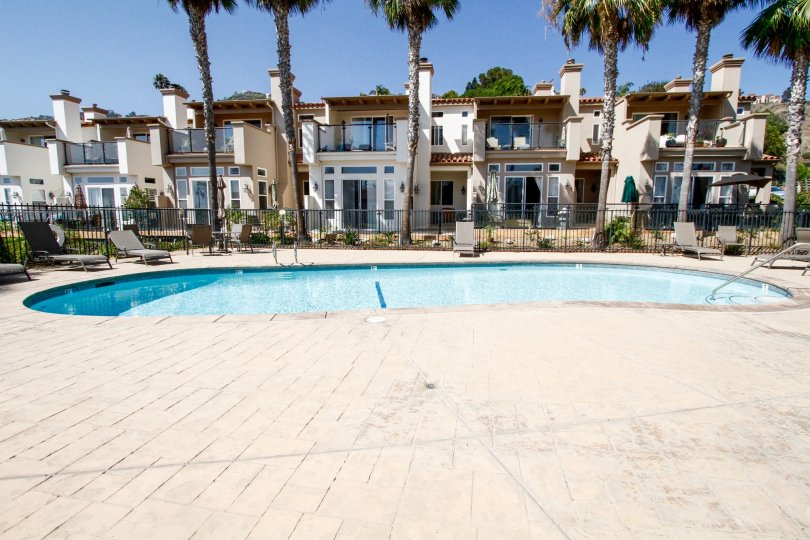 The pool for residents at Vista Pacifica at Broad Beach