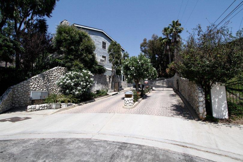 The drive into Vista Pacifica in CA California