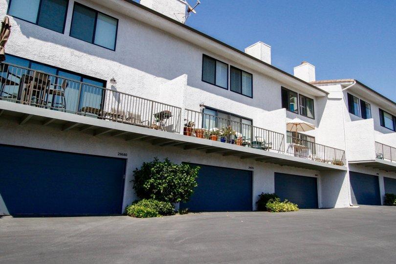 The windows in the Zuma Bay Villas in CA California