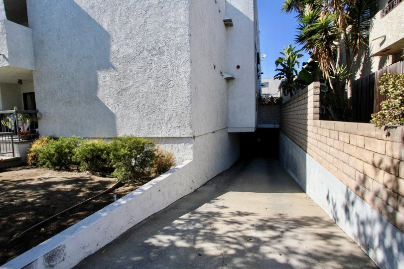 The parking for resdients at 12629 Caswell Ave in Mar Vista, California