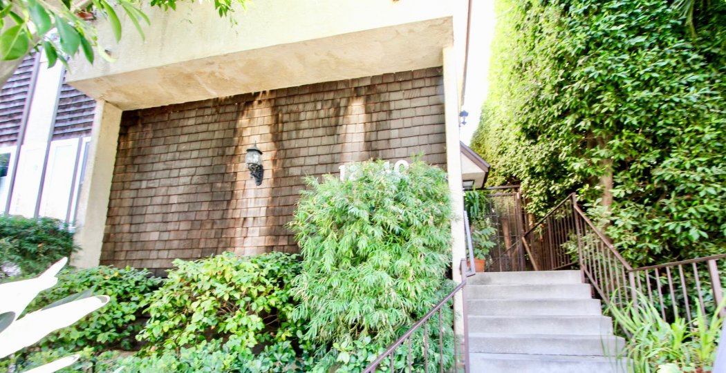 The landscaping around 12740 Pacific in Mar Vista, California