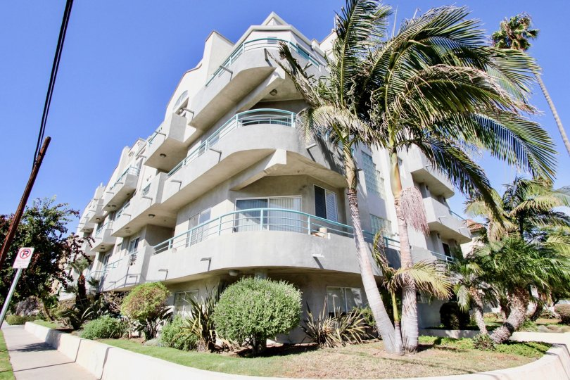 The balconies at 12773 Caswell in Mar Vista, California