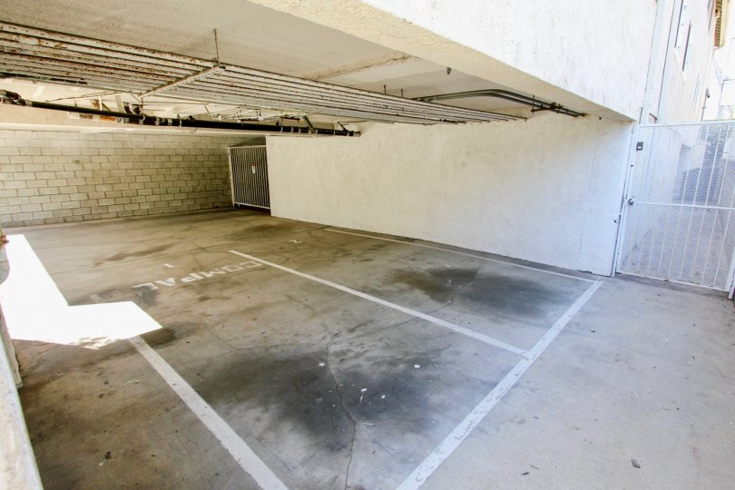 The garages for parking at Avon Ambassador