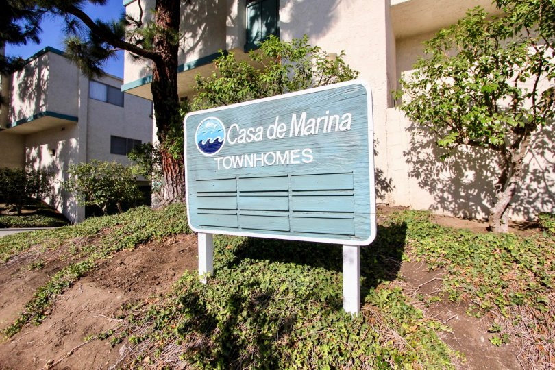 The sign for Casa De Marina in Mar Vista, California
