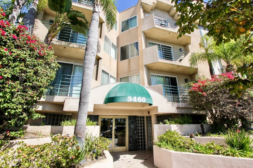 The address above the entrance into Centinela Ocean View Condos