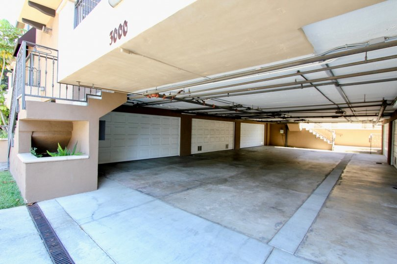 The garages at Federal Avenue Townhomes