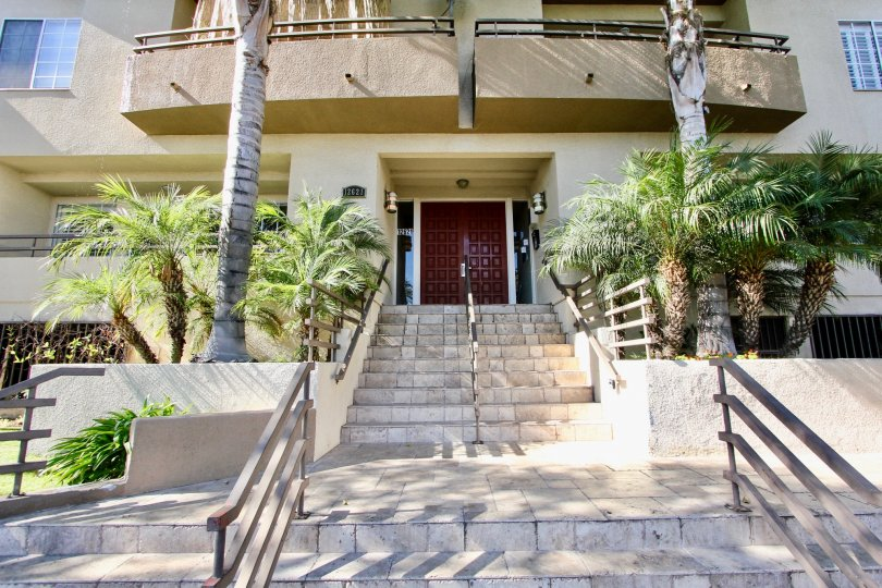 The stairs leading up to Mar Vista Condos