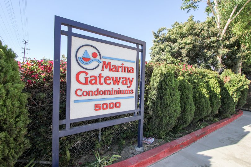 The sign for Marina Gateway