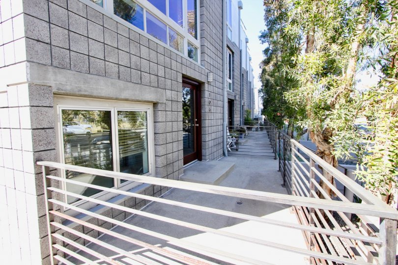 A patio off a unit at R1 Living in Mar Vista