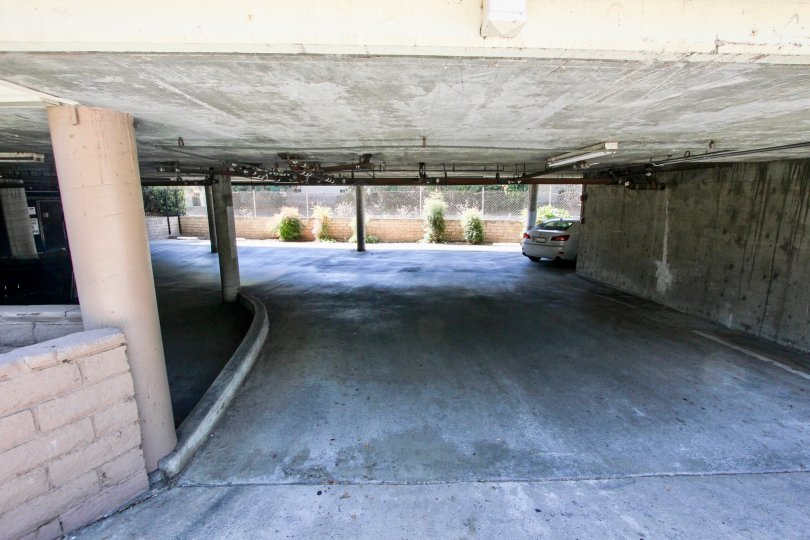 The parking below the Villa Margarita