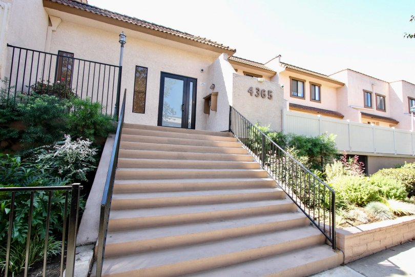 The stairs leading up to the Villa Margarita in Mar Vista, California