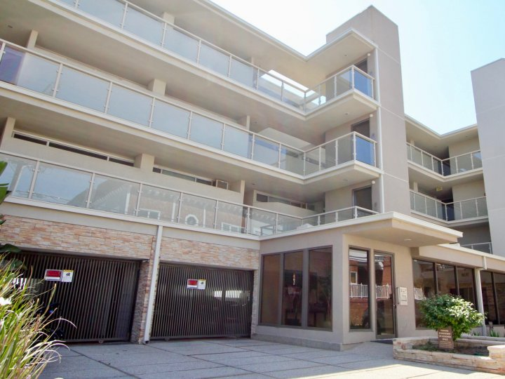 The sunny balconies and gated garages at 2 Ketch in Marina Del Rey.