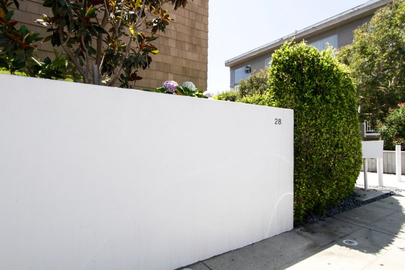 The fence around 28 Mast in Marina Del Rey